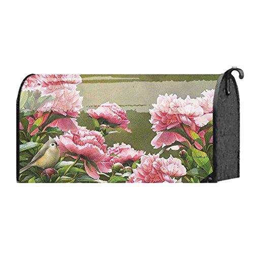 Pink Pfingstrosen und Little Finch Bird 22x 18Standard Größe Postfach Schutzhülle -