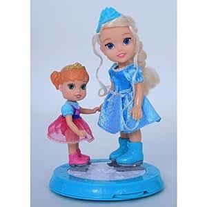 Poupées Princesses La Reine des Neiges Anna et Elsa patineuses