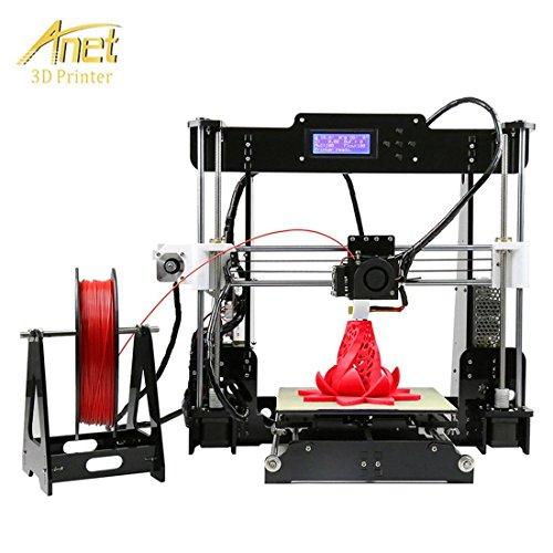 Anet a8 stampante 3d kit lcd display abs filamento pla hips diy 3d printer kit stampa dimensioni 220 * 220 * 240 mm nero