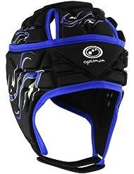 Optimum Inferno - Casco de rugby, color negro / azul (black/blue), talla Large