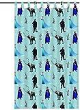 Vorhang Frozen Blau