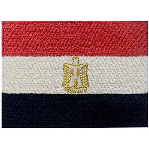 Ägypten Flagge bestickt Patch Ägyptische Arabische Eisen auf Sew auf National Emblem -