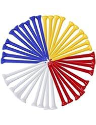 Dcolor 100 PCs. Tees de golf de 54 mm de plastico color mezclado