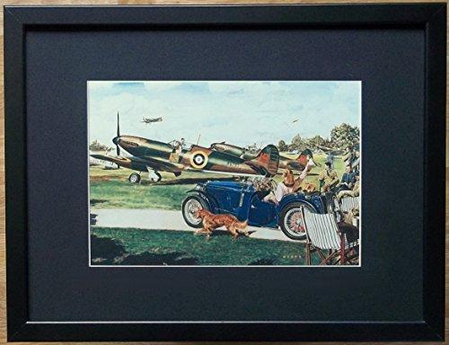 aufgezogen und gerahmt Spitfire Print-30,5x 40,6cm Rahmen, Aviation Wand Art, New Kites von Jim Dietz