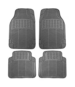 Speedwav 44718 Grey Rubber Floor Mat for Maruti Zen Old (4-Piece Set)