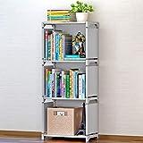 Deesjue 3 Cubes Einfaches Bücherregal Bücherregal Silver Gray