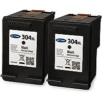 2x Remanufactured HP 304XL High Capacity Black Ink Cartridges