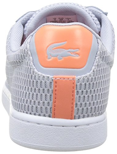 Lacoste Carnaby Evo 217 1, Basses Femme Gris (Gris Clair)