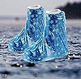 Huihuger Huihuger Hochwertige Kinder PVC Wasserdicht Lovely Regen Schuhe Cover (blau)