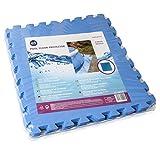 Gre MPF509 - Protector de suelo de piscina en Polietileno, 9 piezas de 50x50cm,...