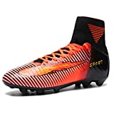 AKALI Kinder Jungen AG/TF High Top Spike Cleats Fußballschuhe EU44 - 27.0CM Orange-AG