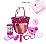 My First Purse Play Play Make up Set 10 PCS, Pretty Role Play Toy per ragazze, Educational Pretend Toy per bambini in età prescolare e borsellino, Compleanno, Capodanno, in confezione regalo