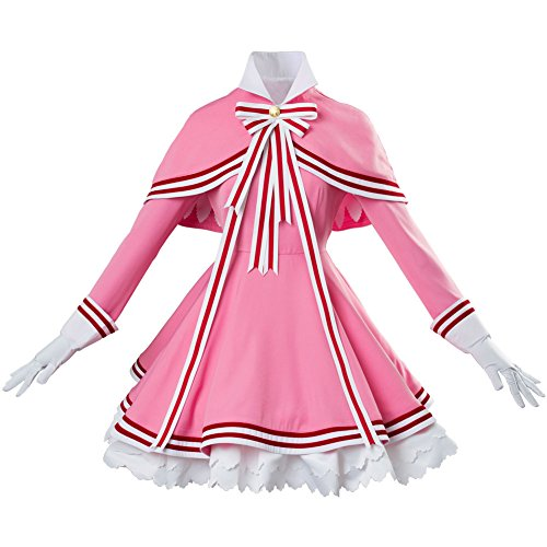 (Cardcaptor Sakura 2 CCS 2 Kinomoto Sakura Kleid Cosplay Kostüm Damen S)