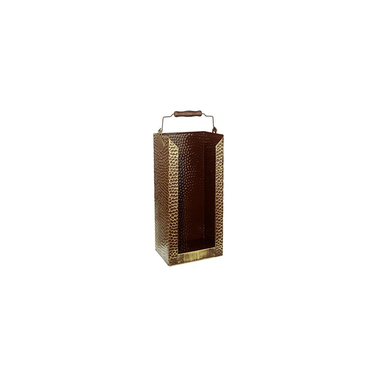 51cDWKzXaML. SS1200  - Kamino-Flam - Cubo para leña, Cesta para carbón, Contenedor para leña, Cajón de almacenamiento, Caja para almacenar leña y carbón - 20/15/40 cm
