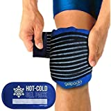 Twinpack | Luxury Hot Cold Gel Pack Compress Wrap for Knee Injuries