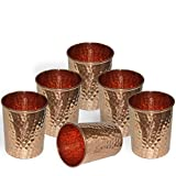 Handmade Pure Copper Hammered Tumbler Glass,Set of 4 (6.00)