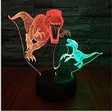 Tyrannosaurus Spike Led 3D Night Light Visual Creative Control Colorido Touch Usb 3D Light Fixtures Usb Lámpara Led