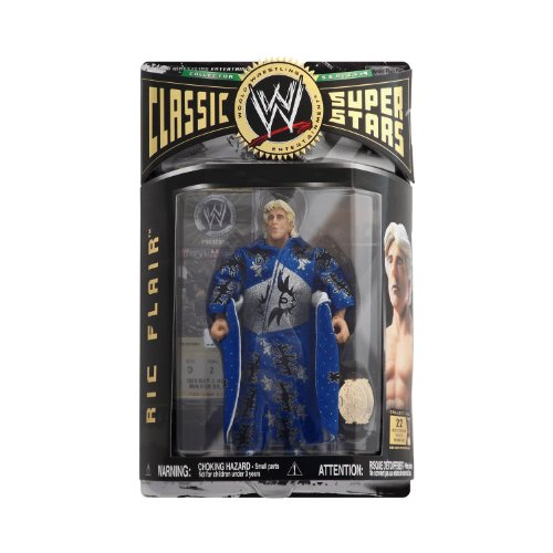 WWE-CLASSIC SUPER STARS-Ric Flair-Collector Series # 9-Wrestlemania Ticket-Robe & Championship Belt-Limited Edition-Mint-Collectible (R) by Jakks