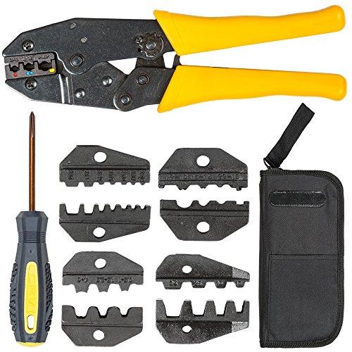 TecTake Crimpzange Kabelschuhzange Crimpwerkzeug Aderendhülsen Zange 0,5-6mm² 6-50mm² - Diverse Modelle - (0,5-6mm | Nr. 401636)