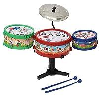 Moppi 4pcs Mini Children Drum Kit Set Musical Instruments Band Toy Bass Gifts