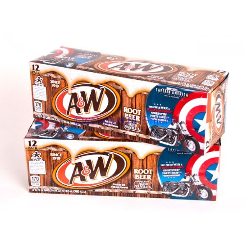 A&W Root Beer 12oz (355mL) - 24 Pack