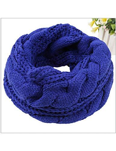 MWBYNY Dames femmes hiver tricoté au crochet long tube snood écharpe chaffet réchauffe cou , 3
