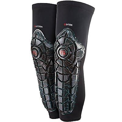 G-Form Elite Knee Shin Combo Teal Topo/Black Schutz Knie und Schienbein Unisex Erwachsene, schwarz