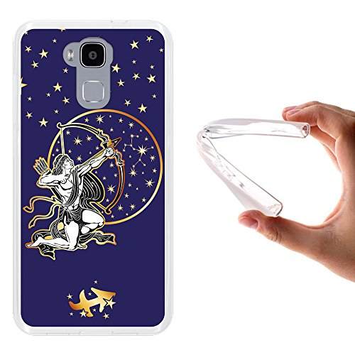 WoowCase Doogee Y6 4G Hülle, Handyhülle Silikon für [ Doogee Y6 4G ] Tierkreiszeichen Schütze Handytasche Handy Cover Case Schutzhülle Flexible TPU - Transparent