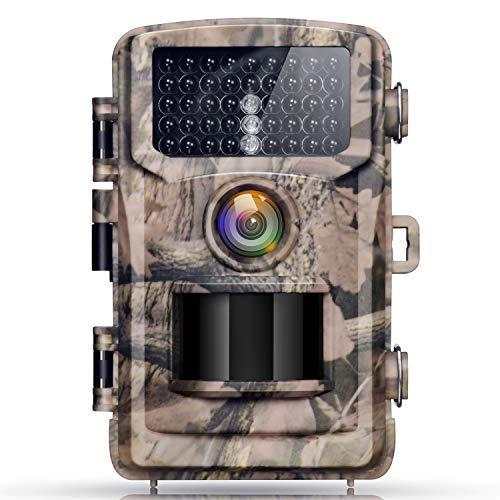 """Caméra de Chasse Campark 12MP 1080P HD Caméra Animaux de Surveillance avec 2.4 """"LCD 120° Grand Angle, 42 LEDs de Vision Nocturne IR Accéléré 22M/75FT, IP56 Étanche Caméra de Jeu"""