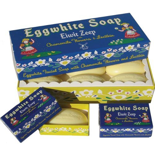 Eggwhite and Chamomile Facial Soap 6 Bar Gift Set by Belgian Soaps by (Bar Soap Gift Set)