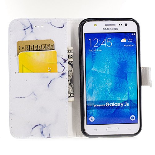 Für Samsung Galaxy J5 Horizontale Flip Case Cover Luxus Blume / Marmor Textur Premium PU Leder Brieftasche Fall mit Magnetverschluss & Halter & Card Cash Slots ( Color : E ) C