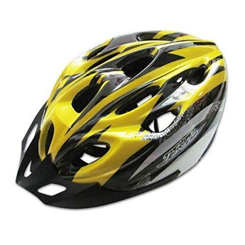 TENGGO Outdoor MTB Fahrradhelm mit 18 Öffnungen-Gelb & Schwarz