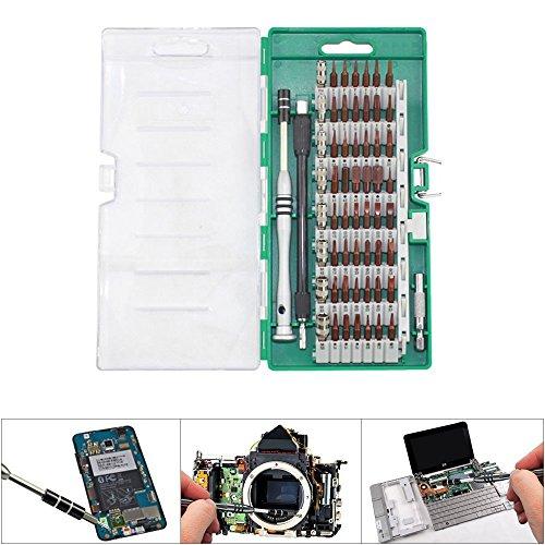 Preisvergleich Produktbild 60 in 1 Schraubenzieher-Kit, Baymery Precision Schraubendreher Reparatur-Tools Set Reparatur-Tool-Set für elektronische Handy-Laptop-TV-Kameras DVR