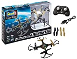 Revell Control 23860 RC Quadcopter Air Hunter, 2.4GHz, Akku, Flip-Funktion, Rotorschutz, LED, Headless-Mode, Geschwindigkeitsstufen, ferngesteuerter Quadrokopter, Camouflage-Design, 15,5 cm