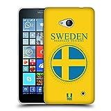 Head Case Designs Fahne Schwedens Fahne Flicken 2 Soft Gel