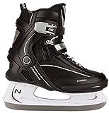 Nijdam, Pattini da hockey su ghiaccio Unisex adulto, Nero (Schwarz/Weiß), 45