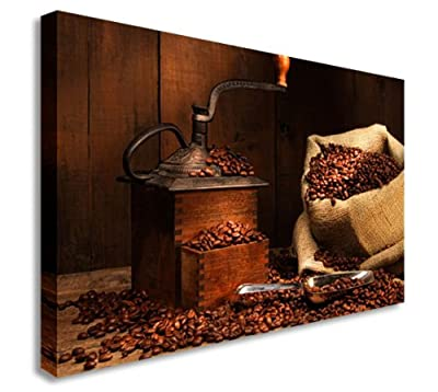 Coffee Beans + Grinder Shop Wall Picture Canvas Prints Art Cheap - inexpensive UK canvas store.