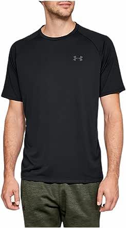 Under Armour Men's UA Tech 2.0 T-Shirt (Black/Black/Gray, Small)