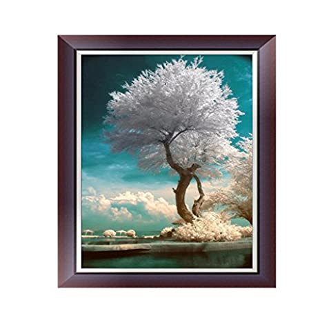 dairyshop weiß Baum 5D Diamant Stickerei Gemälde Kreuzstich DIY Craft Home Office Decor