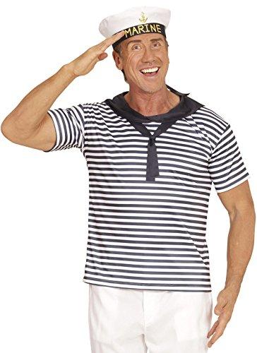 senenkostüm Marine Set, Shirt und Hut (Halloween Matrose Hut)