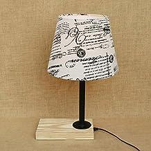 BMKY lámpara de mesa Dormitorio creativo Salón de la personalidad Luz de la noche de madera maciza Escritorio decorativo de la vanidad Ordenador Lámpara de escritorio Lámpara de cabecera lámpara de mesa ( Color : A )