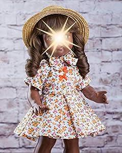 Mariquita Pérez- Florecitas Naranja Complementos, Color Vestido de colección diseño Propio (Comercial de Juguetes Maripe SL 1)