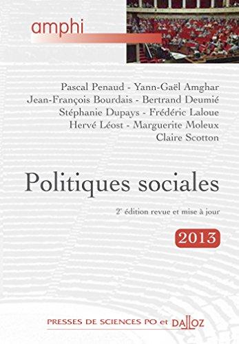 Politiques sociales - 3e éd.: Amphi - Presses de Sces Po et Dalloz