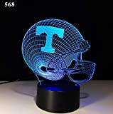 Neuer Rugby 3D beleuchtet bunte entfernte LED-Lichter der Note 3d