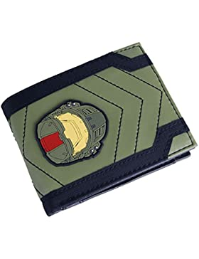 Halo Master Chief Cartera verde-negro