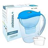 ✧WESSPER® Wasserfilter, Kanne, Krug, Wasserkrug, Universal Kanne (kompatibel mit Anna Duomax) 3,5L - blau