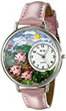 Whimsical Watches Unisex U0110003 Pigs Pink Leather Watch best price on Amazon @ Rs. 1227