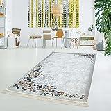 myshop24h Druckteppich Waschbar Teppich Küche Wohnzimmer Rose Rosen Flachflor Dünn Polyester Modern 130x200, Muster:Rose