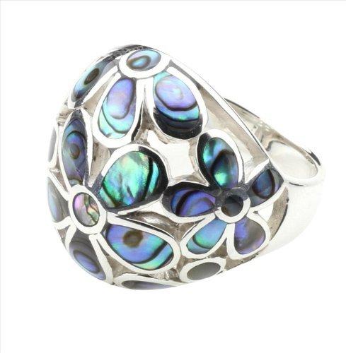 DTPsilver - Concha de Nácar Abulón paua - anillo en plata de ley 925, talla 19