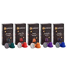 100 Capsule NESPRESSO compatibili GRAND CRU – 5 miscele differenti